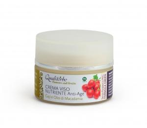 Crema Viso nutriente 50 ml ANTI-AGE - Flowers and Fruits - (Vegan ok, no Parabeni, no PEG)