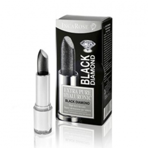 INCAROSE BLACK DIAMOND DIAMOND BLACK LIPSTICK WITH HYALURONIC ACID