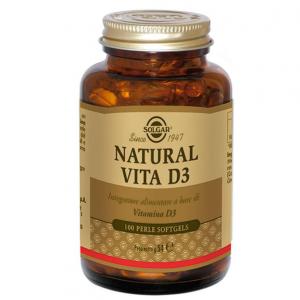 VIDA NATURAL vitamina D3 suplemento dietético SOLGAR D3 contribuye a la absorción NORMAL del calcio y del fósforo