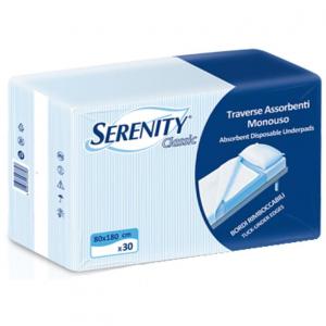 SERENIDAD TRAVERSE 80 X 180 30pcs RIMBOCCABILI protectores de incontinencia