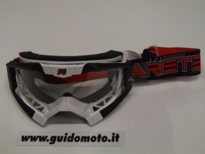 Occhiale MX Riding Crows. Bianco/Nero. Ariete