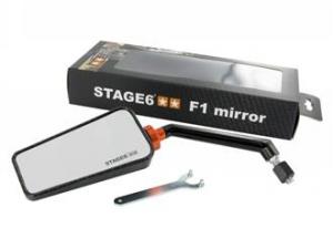 Specchio retrovisore Stage6 F1, sinistro, carbonio lucido, 8mm