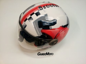 Casco vespa helix iv red rally tg l