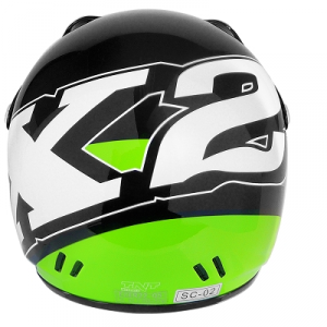 Casco cross bimbo x2 tnt fashion nero/verde size S