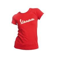 T-shirt donna rossa logo vespa