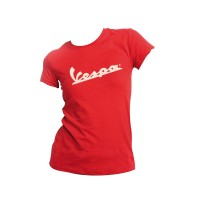 T-shirt donna rossa logo vespa taglia L VPTS-L