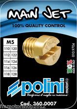 Polini set 10 getti massimo carburatore dellorto 5 mm da 110 a 128 cod. 360.0007
