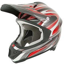 Casco stealth hd203 mx cross motard enduro quad rosso taglia s