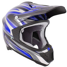 Casco stealth hd203 mx cross motard enduro quad blu taglia m