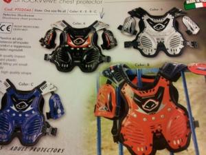 Pettorina motocross ufo plast shockwave modello 2015
