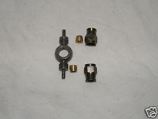Raccordo Brembo/Allegri doppio con ghiere e olivette in acciaio per tubo freno aeronautico