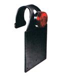 Porta targa in gomma tipo enduro epoca completo di fanale rottondo a due luci