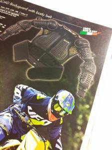 Pettorina motocross ufo plast bodyguard con fascia modello 2015
