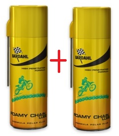 Kit Bardahl Foamy Chain Lube lubrificante spray per catene
