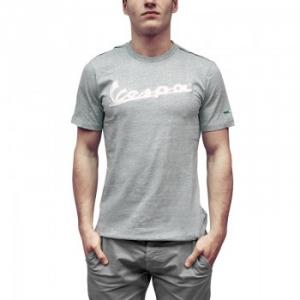 T-shirt grigia melange logo vespa tg.m