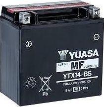 Batteria yuasa ytx14-bs 12v, 14ah