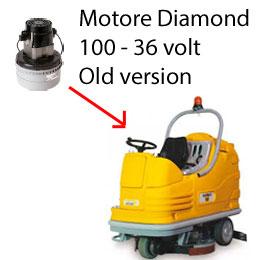 Diamond 100 - 36 volt Motore aspirazione AMETEK lavapavimenti Adiatek OLD Version