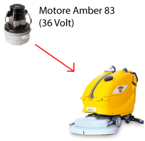 Amber 83 motore aspirazione 36 volt