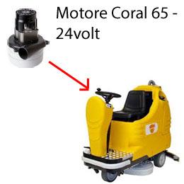 Coral 65 - 24 volt Motore aspirazione AMETEK lavapavimenti Adiatek