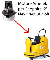 Sapphire 65 36 volt (NEW) Motore Ametek aspirazione lavapavimenti Adiatek