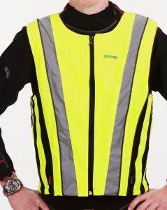 Gilet alta visibiltà   giallo fluorescente elasticizzato tg. 2XL