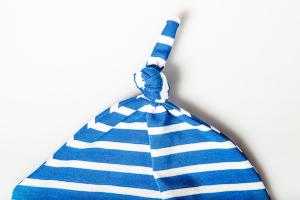 Cappello 1 Nodo Blu Righe