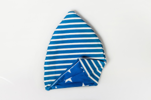 Cappello Double Face Blu Stelle/Righe