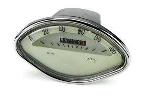 Contachilometri Vespa VBA, VBB e Sprint, scala 100 km/h. Crema