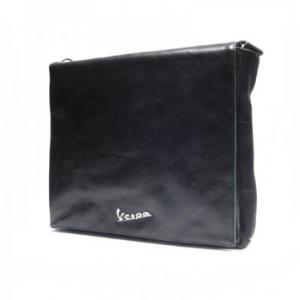 Borsa Eco pelle Go, Vespa, con custodia porta PC. Blu