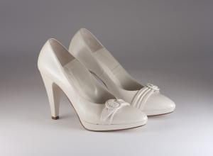 Scarpa donna elegante da sposa e cerimonia in pelle color champagne Ferracuti cod.6410