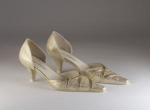 Scarpa donna elegante da sposa e cerimonia  in pelle Carlo Pignatelli cod.5Z6205