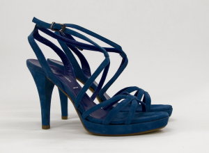 Sandalo elegante cerimonia donna in pelle scamosciata con cinghietta regolabile Bressan Art.6131