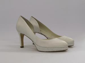 Scarpa elegante cerimonia donna da sposa i tessuto di raso con inserti glitter  Penrose Art.22711