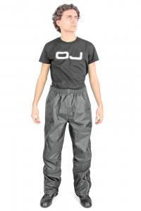 Pantalone antipioggia apribile DOWN PLUS OJ, Nero. Tg. XL