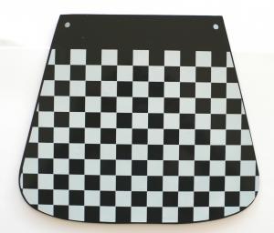 Paraspruzzi per Piaggio Vespa Innocenti Lambretta scacchi bianco nero 142680170