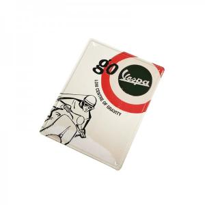 Locandina latta Vespa BERSAGLIO GO. Rettangolare 30x40 cm