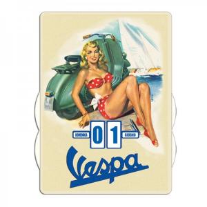 Calendario perpetuo Vespa vintage da parete 27 x 37 mm.