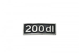 TARGHETTA INNOCENTI LAMBRETTA 200DL 010MONO200DL