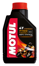 OLIO MOTUL 100% SINTETICO 7100 15W50 4 TEMPI PER MOTO 104298
