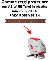 ABILA 50 Gomma tergi per lavapavimenti  GOMMA TERGI posteriore Comac TERGI IN PLASTICA