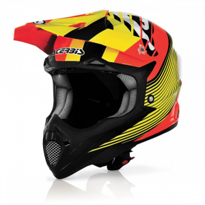 Casco cross ACERBIS in fibra IMPACT WHISHMASTER. Arancio/Giallo. Tg. M