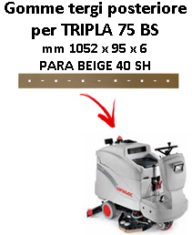 Gomma tergi posteriore per lavapavimenti COMAC TRIPLA 75 BS