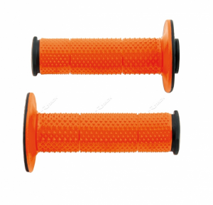 Manopole Racetech diamond per cross e motard. Nero/Arancio