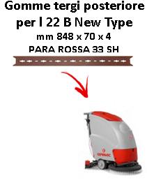 L 22 B New Type  GOMMA TERGI posteriore Comac