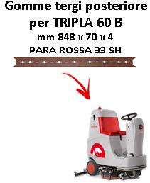 TRIPLA 60 B  GOMMA TERGI posteriore Comac