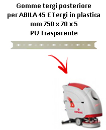 ABILA 2010 45 E  GOMMA TERGI posteriore Comac