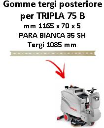 TRIPLA 75 B  GOMMA TERGI posteriore Comac