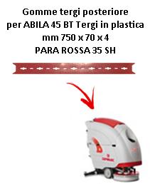 Gomma tergi posteriore per lavapavimenti COMAC modello ABILA 2010 45 BT