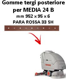 Gomma tergi posteriore per lavapavimenti COMAC MEDIA 24 B