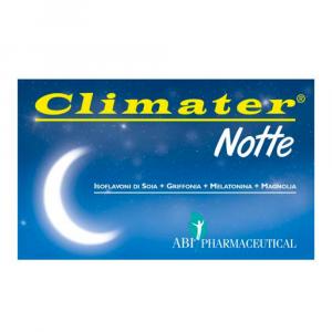 CLIMATER NOTTE INTEGRATORE ALIMENTARE A BASE NATURALE PER COMBATTERE I DISTURBI DELLA MENOPAUSA ED INSONNIA